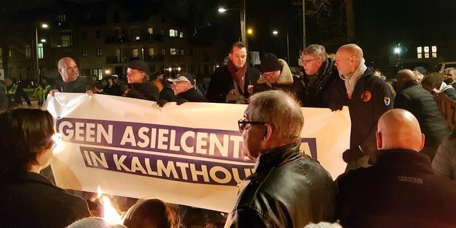 Protestactie tegen het geplande asielzoekers opvang te Kalmthout