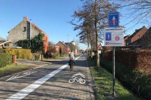 Tweede fietsstraat in Kalmthout