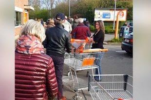 16-3-2020 - In de ban van het Coronavirus - Hamsteren bij de Colruyt in Kalmthout - Noordernieuws.be