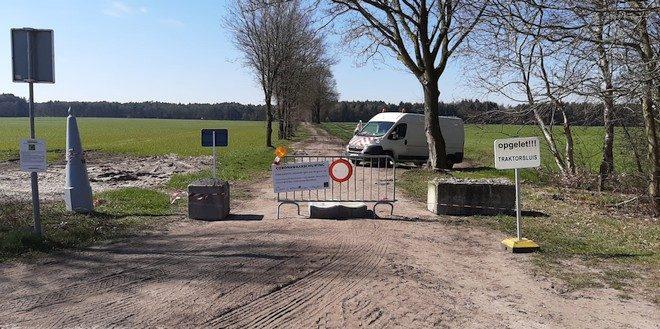 Grensovergang speciale tractorsluizen (alleen) voor landbouwers