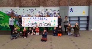 Kleuterschool en Lagere school Mariaberg steunen zorg- en hulpverleners met applaus