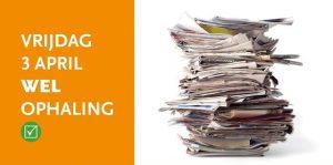 Ophaling oud papier-