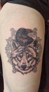 Els Deckers - Beroep Tatoeëerder - Tattoos - Tatoeage Wolf