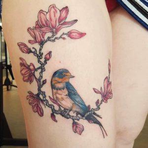 Els Deckers - Beroep Tatoeëerder - Tattoos - Tatoeage Vogel