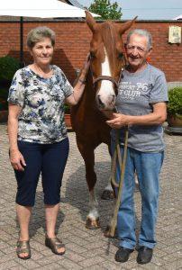 Annie Sama met Cyriel Van Oers en pony Rosalien - HDB_1442s