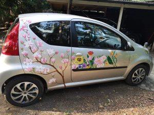 Aoi Wongwat - Hobby Kunstschilderen - Auto 4s - (c) Noordernieuws.be 2020