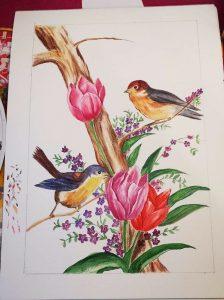 Aoi Wongwat - Hobby Kunstschilderen - Tekening Vogels 5