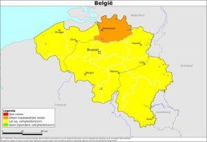 Nederlandse overheid geeft negatief reisadvies voor de provincie Antwerpen