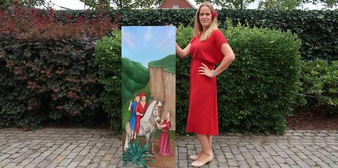 Vijftiende-eeuwse selfie Chantal Durham-Bogers voor wedstrijd 'Op Eigen Hout'
