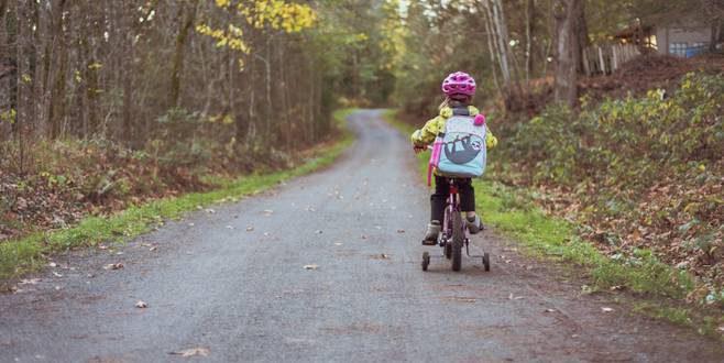 Voor het eerst met de fiets naar school
