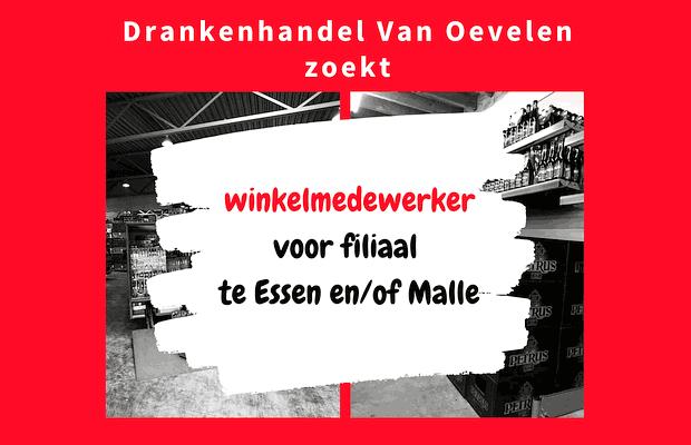 Vacature Winkelmedewerker voor Essen of Malle