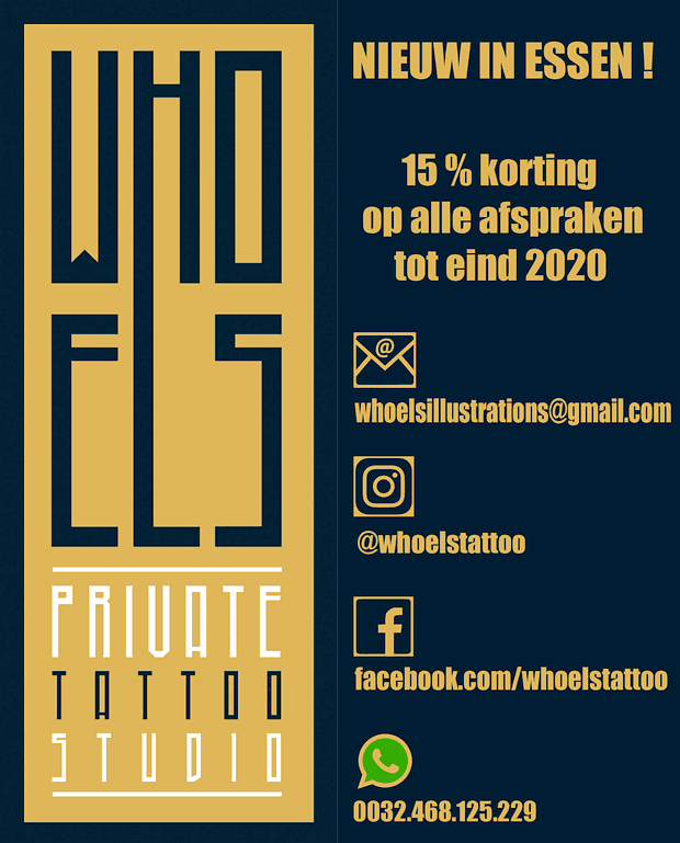 Whoe Els - Private Tattoo Studio - Essen