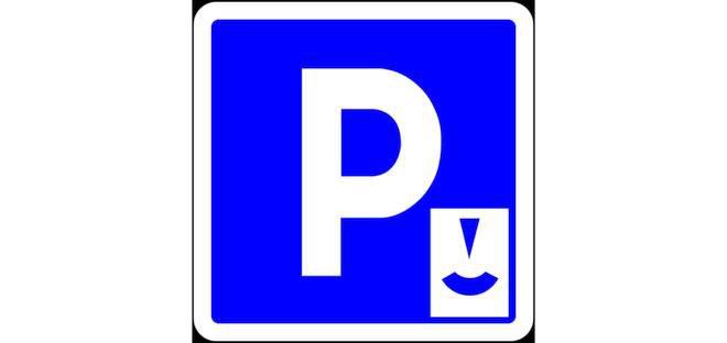 Blauwe zone parking sporthal, voetbal en omgeving