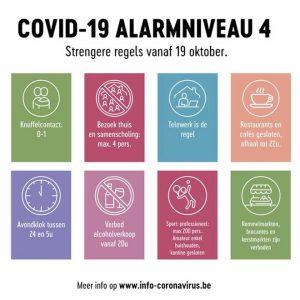 Strengere regels vanaf maandag 19 oktober