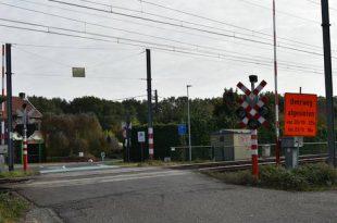 Werken spoorwegovergang Nieuwe Heikant.