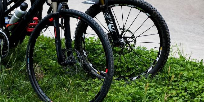 Politie met de mountainbike in de Kalmthoutse Heide