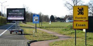 De grens blijft open, maar repecteer de coronaregels in België