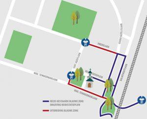 Uitbreiding blauwe zone in Heide