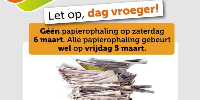 Alle papierophaling in Essen op vrijdag 5 maart