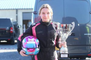 Kartster Isabella Baas Best Lady in IAME Benelux-kampioenschap