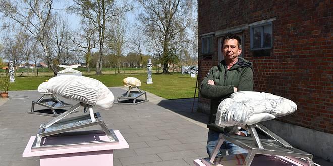 Kunstenaar Jorg Van Daele - Culturele tentoonstelling - (c) Noordernieuws.be 2021 - HDB_3470q