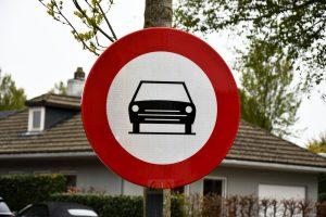 Verkeersborden - Verbodsbord voor wagens - (c) Noordernieuws.be - HDB_3511