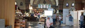 Heilig-Hart-van-Jezuskerk tijdelijk ingericht als noodvaccinatiecentrum2