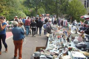 Dorpsdag in Heide met rommelmarkt en kermis